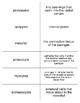 Mesozoa and Parazoa Vocabulary Flash Cards for Zoology
