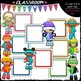 Message Board Kids Clip Art Bundle (3 Sets)