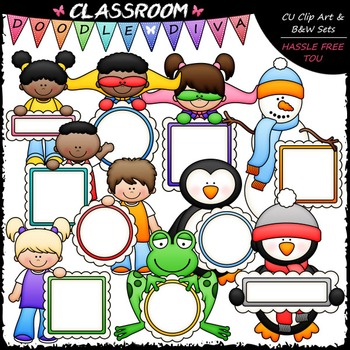 Message Board Mix Clip Art - Frames Clip Art