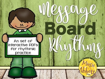 Message Board Rhythms {A Bundled Set}