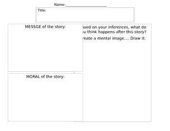Message, Moral, Creating a Mental Image