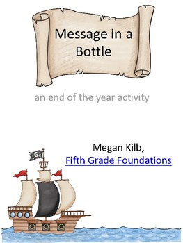 Message in a Bottle End of the Year Writing