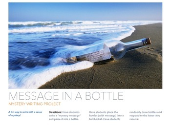 Message in a Bottle: Writing Assignment