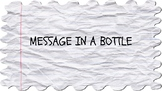 Message in a Bottle Writing Prompt