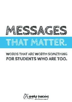 Messages That Matter - motivational posters for educators