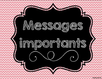 Messages importants