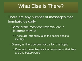 Messages in Media (Gender Stereotypes in Disney)