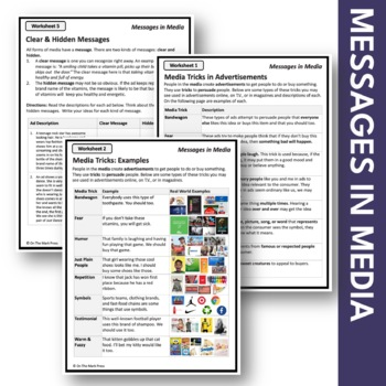 Messages in Media Lesson Plan Grades 4-6 - Aligned to Common Core