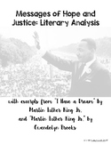Messages of Hope and Justice: Literary Analysis Unit- Martin Luther King Jr.