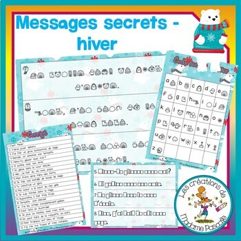 Messages secrets - hiver / FRENCH winter mystery sentences