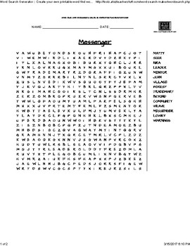 Messenger- Word Search