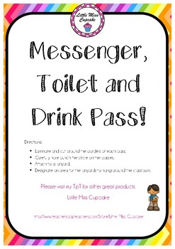Messenger, Toilet and Drink Pass