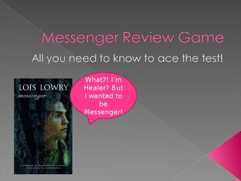 Messenger by Lois Lowry Review PowerPoint for Unit Test