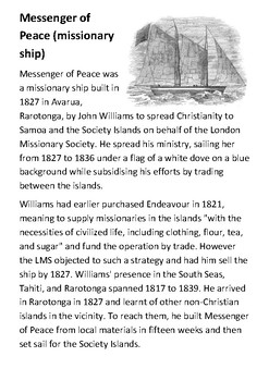 Messenger of Peace (missionary ship) Handout