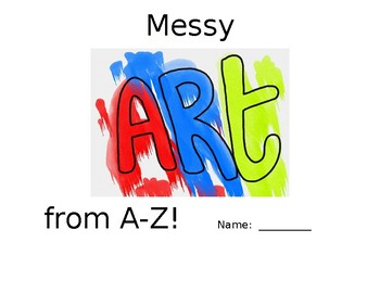 Messy Art Book for A-Z