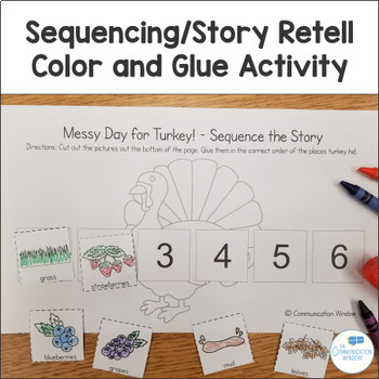 Messy Day for Turkey! Fall Theme Interactive Book and Activities