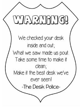 Messy Desk Notification- Desk Police