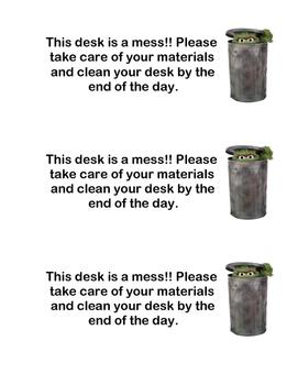 Messy Desk Reminder