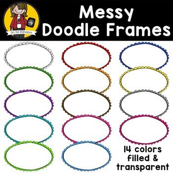 Messy Doodle Frames {Clip Art for CU}
