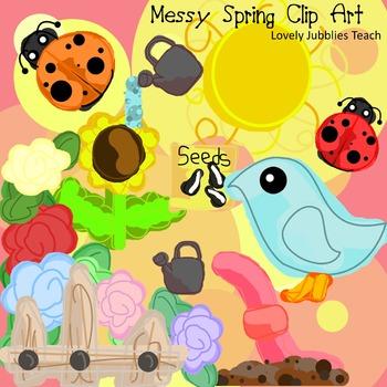 Messy Spring Clip Art