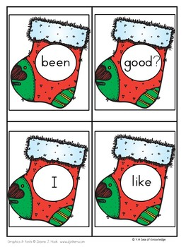 Building Sentences - Messy Stockings {First 5 Fry Words!} K-G1