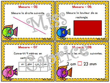 Mesure - Cartes à tâches - 2e cycle