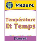 Mesure: Température et Temps An. 3-5