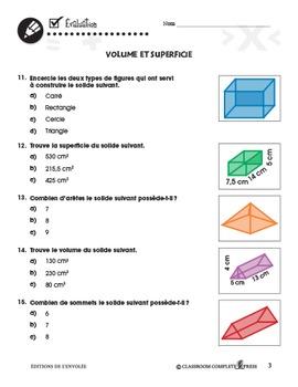 Mesure: Volume et Superficie An. 3-5