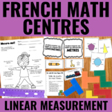 FRENCH Linear Measurement (Incl. Perimeter & Area) Centres for Guided Math