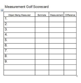 Mesurement Golf