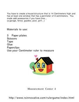 Mesurement centers using a ruler
