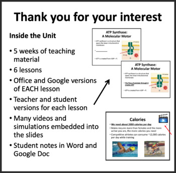Metabolic Processes Unit - PowerPoint Lessons, Notes, Worksheets & Assessments