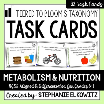 Metabolism and Nutrition Task Cards