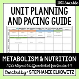 Metabolism and Nutrition Unit Planning Guide