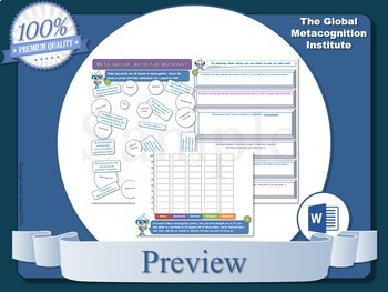 Metacognition (A3 Worksheets x5)