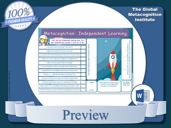 Metacognition (A4 Worksheets x5)