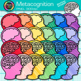 Metacognition Clip Art {Growth Mindset and Psychology Graphics for Resources}