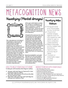 Metacognition (Comprehension) Newsletter for Parents