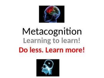 Teaching Resources. Metacognition Learning To Learn PowerPoint (languages)
