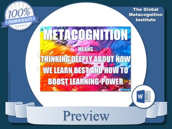 Metacognition Posters (x10)