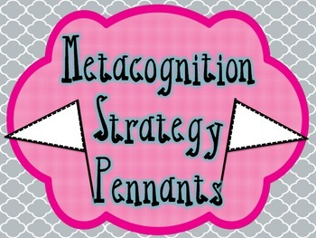 Metacognition Reading Strategy Pennants