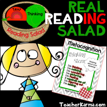 Metacognition Real Reading Salad Comprehension Strategy Activity ~ RTI