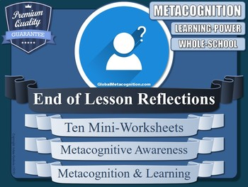 Metacognition Reflection Worksheets (x10)