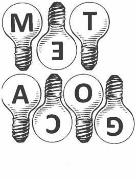 Metacognition Sentence Starter Display