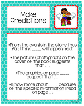 Metacognition Strategy Signs/Labels