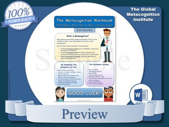 Metacognition Workbook (Metacognitive Strategies)