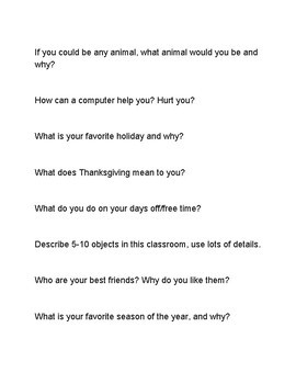 Metacognition Writing Prompts
