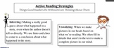 Metacognitive Active Reading Strategies--Student Friendly Definitions