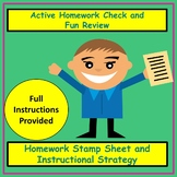 Active Homework Check and Fun Review