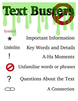 Metacognitive Markers- Text Busters